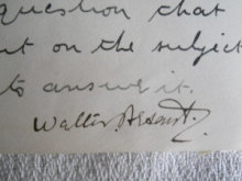 Original Signature, Sir Walter Besant
