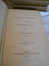 The Works of Lamb, 1836 in 3 volumes